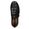 Schwarze Leder-Sneakers mit Klettverschlüssen bata, Schwarz, 526-6646 - 15