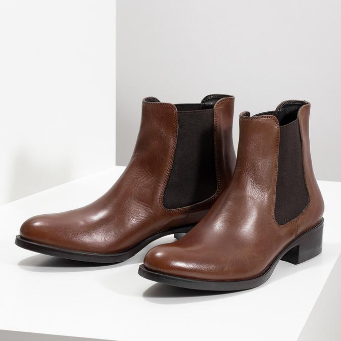 Lederschuhe im Chelsea-Stil bata, Braun, 594-4448 - 16