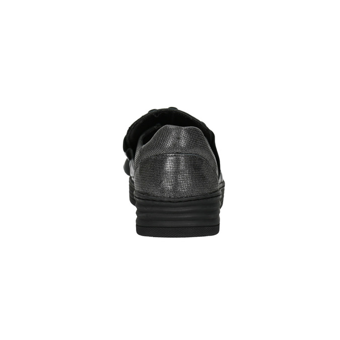 Damen-Slip-Ons aus Leder bata, Schwarz, 516-6614 - 17