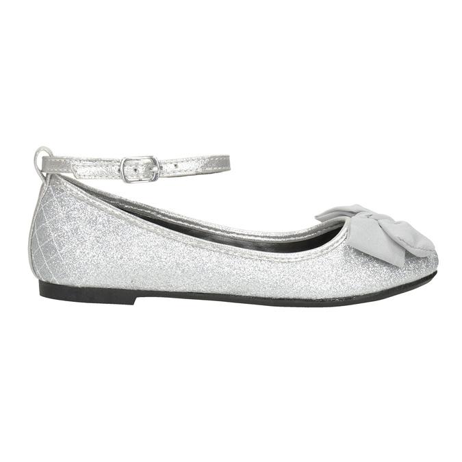 Silberne Mädchen-Ballerinas mini-b, Silber , 329-1286 - 26