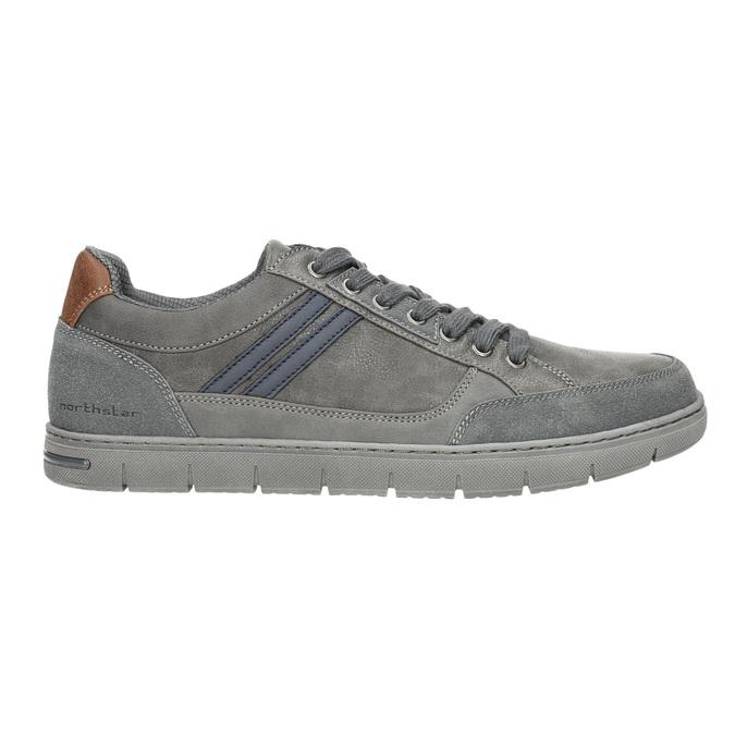 Graue Herren-Sneakers north-star, Grau, 841-2607 - 15