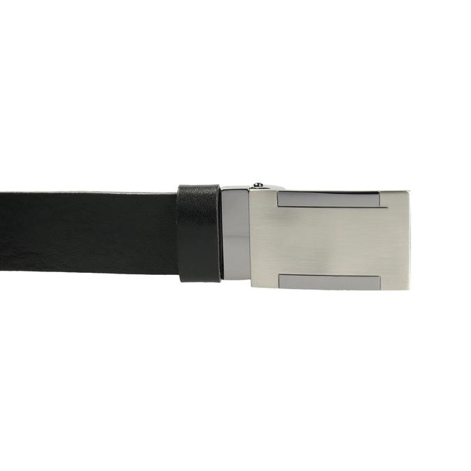 Herrengürtel aus Leder mit Metallschnalle bata, Schwarz, 954-6194 - 26