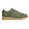 Khaki Damen-Sneakers aus Leder bata, Grűn, 523-7604 - 15