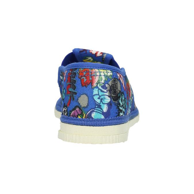 Blaue Kinder-Hausschuhe bata, Blau, 379-9124 - 16