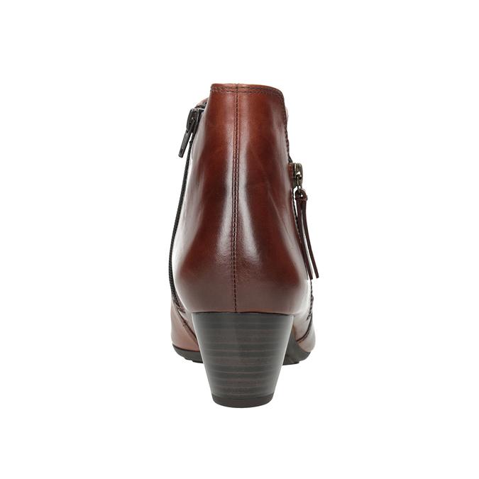 Knöchelschuhe aus Leder mit niedrigem Absatz gabor, Braun, 616-3112 - 16