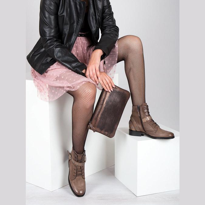 Damenstiefeletten mit Schnallen bata, Braun, 596-4661 - 19