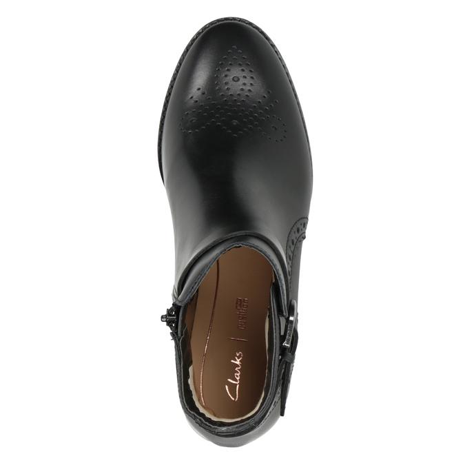 Knöchelschuhe aus Leder mit Verzierung clarks, Schwarz, 614-6027 - 15