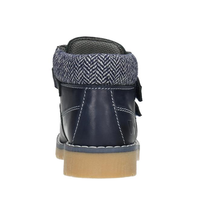 Kinder-Knöchelschuhe aus Leder weinbrenner-junior, Blau, 216-9200 - 16