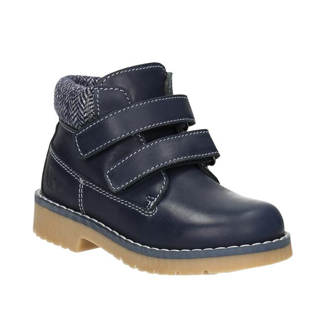 Kinder-Knöchelschuhe aus Leder weinbrenner-junior, Blau, 216-9200 - 13