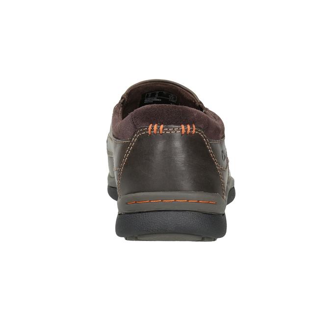 Herren-Mokassins aus Leder mit Steppung clarks, Braun, 816-4022 - 16