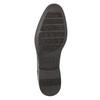 Braune Lederhalbschuhe im Derby-Look bata, Braun, 824-4618 - 19
