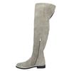 Graue Overknee-Stiefel aus Leder bata, Grau, 593-2605 - 26