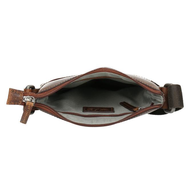 Herren-Crossbody-Tasche aus Leder, Braun, 964-4140 - 15