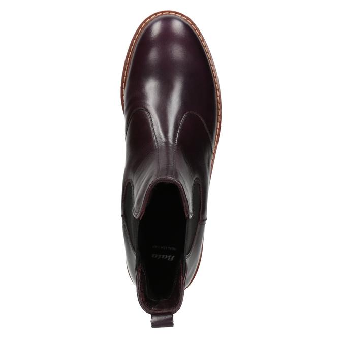 Weinrote Chelsea Boots aus Leder bata, Rot, 596-5657 - 15