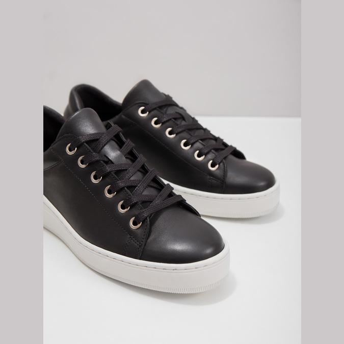 Leder-Sneakers mit markanter Sohle bata, Schwarz, 526-6641 - 18