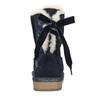 Velours-Stiefel für Kinder bata, Blau, 393-9604 - 17
