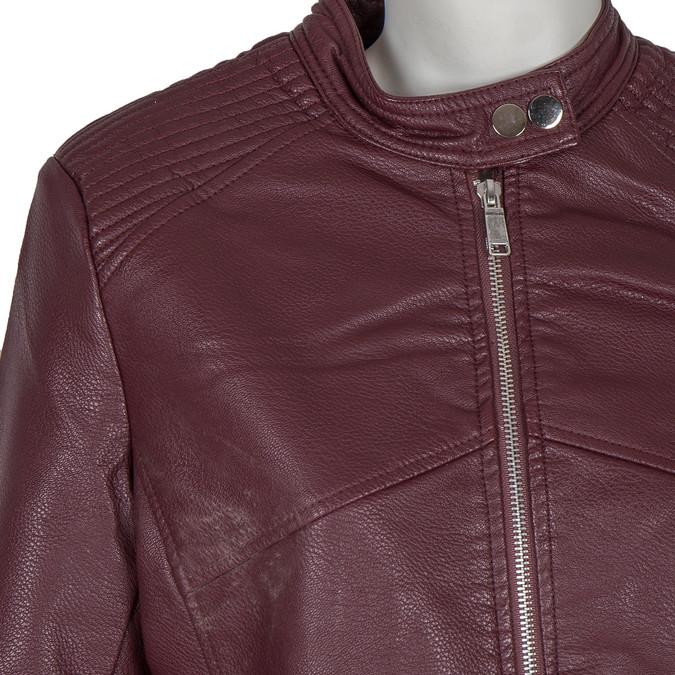 Weinrote Jacke aus Kunstleder bata, Rot, 971-5203 - 16