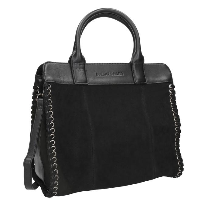 Damenhandtasche aus Leder fredsbruder, Schwarz, 963-6002 - 13
