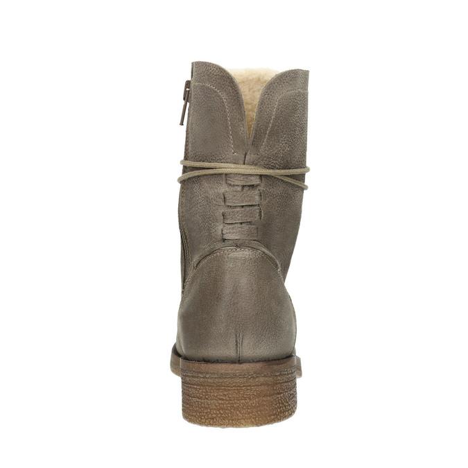 Damenschnürschuhe aus Leder bata, Grau, 596-2663 - 17