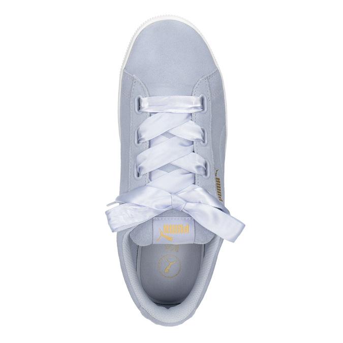 Damen-Sneakers aus Leder puma, Blau, 503-9169 - 15