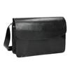 Schwarze Crossbody-Handtasche aus Leder vagabond, Schwarz, 964-6086 - 13