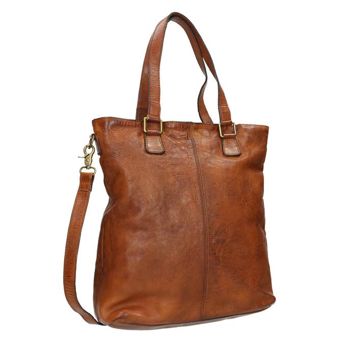 Damenhandtasche aus Leder, Braun, 964-3245 - 13