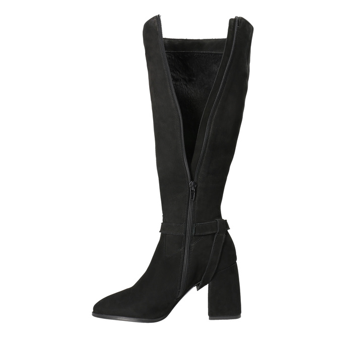 Stiefel mit stabilem Absatz, Schwarz, 793-6031 - 15