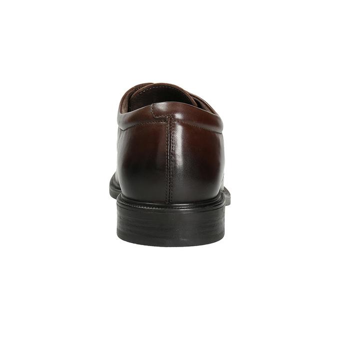 Herren-Lederhalbschuhe mit Steppung climatec, Braun, 824-4986 - 16