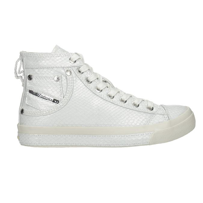 Weiße, knöchelhohe Sneakers diesel, Weiss, 501-6743 - 16