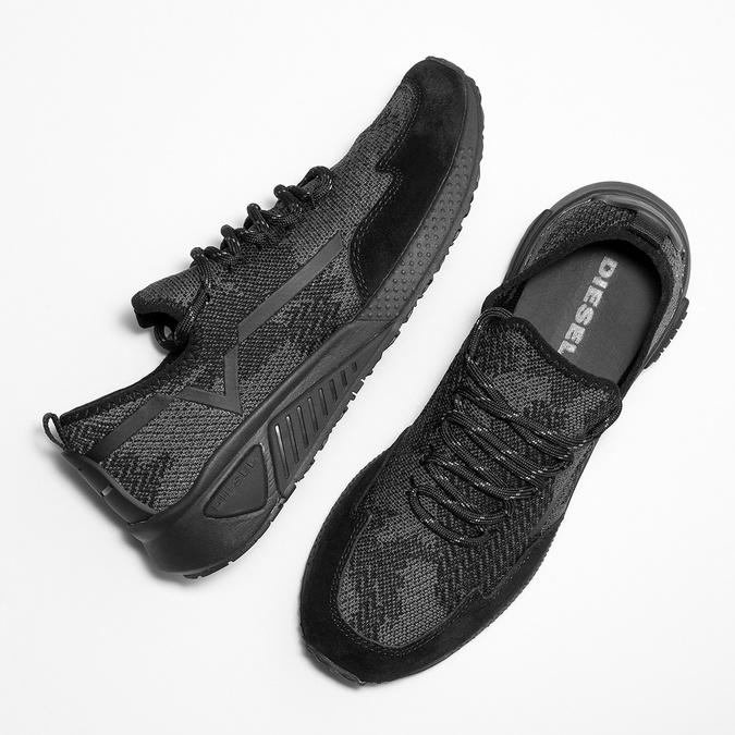 Sportliche Damen-Sneakers diesel, Schwarz, 509-6760 - 26