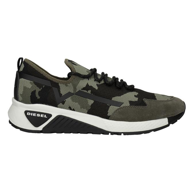 Herren-Sneakers mit Muster diesel, Grűn, 809-7602 - 26