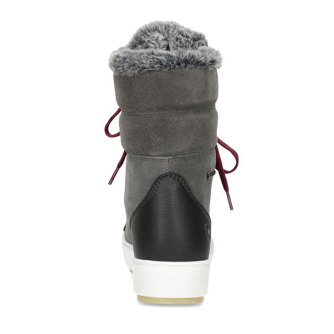 Damen-Schneestiefel aus Leder weinbrenner, Grau, 593-4601 - 15