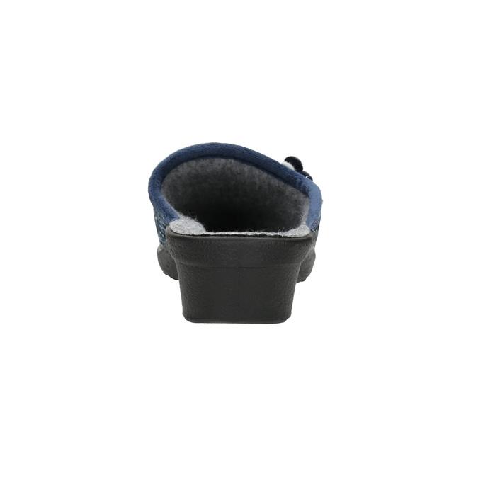 Damen-Hausschuhe bata, Blau, 579-9623 - 17