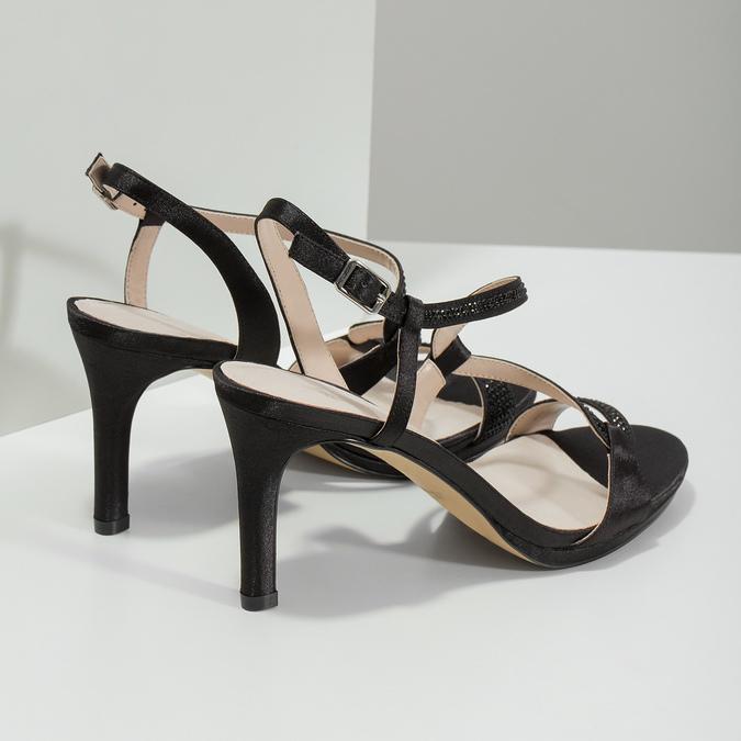Elegante Damensandalen mit Steinchen bata, Schwarz, 729-6611 - 16