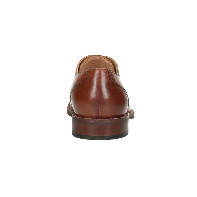 Braune Lederhalbschuhe im Derby-Stil bata, Braun, 826-3812 - 15