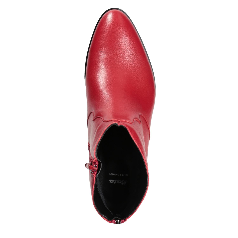 Stiefel Lederstiefeletten Bata Rote Rote Bata ybf76gY
