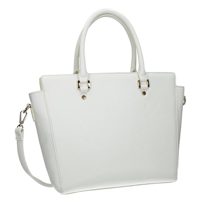 Weiße Damenhandtasche bata, Weiss, 961-1845 - 13