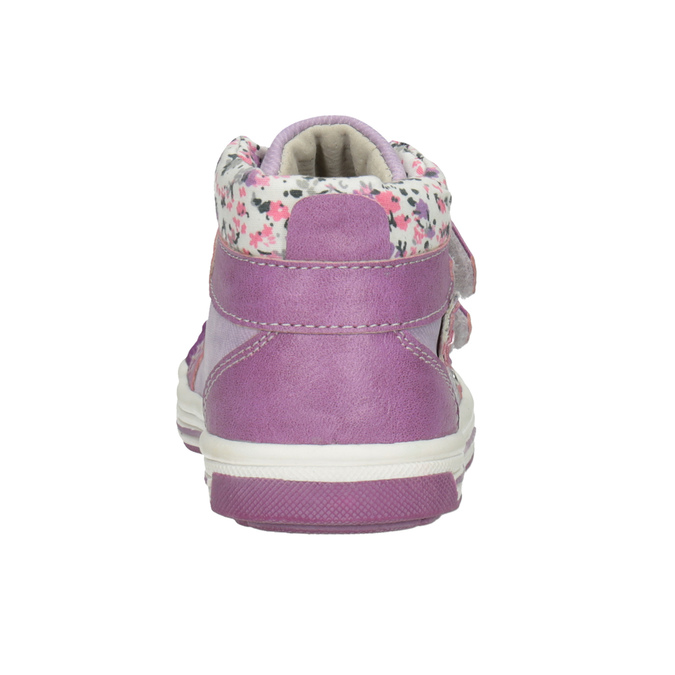 Knöchelhohe, gemusterte Kinder-Sneakers bubblegummer, Violett, 121-9618 - 16