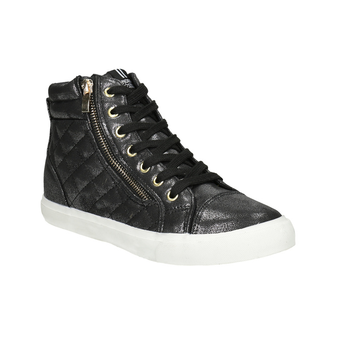 Schwarze, knöchelhohe Damen-Sneakers north-star, Schwarz, 541-6600 - 13