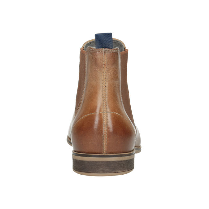 Damen-Chelsea-Boots aus Leder bata, Braun, 596-3684 - 16