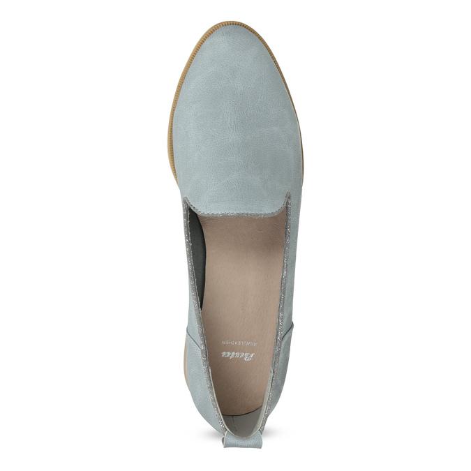 Damen-Loafers aus Leder bata, Blau, 519-9605 - 17