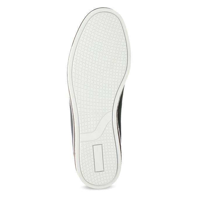 Herren Leder-Sneakers bata, Schwarz, 846-6617 - 18