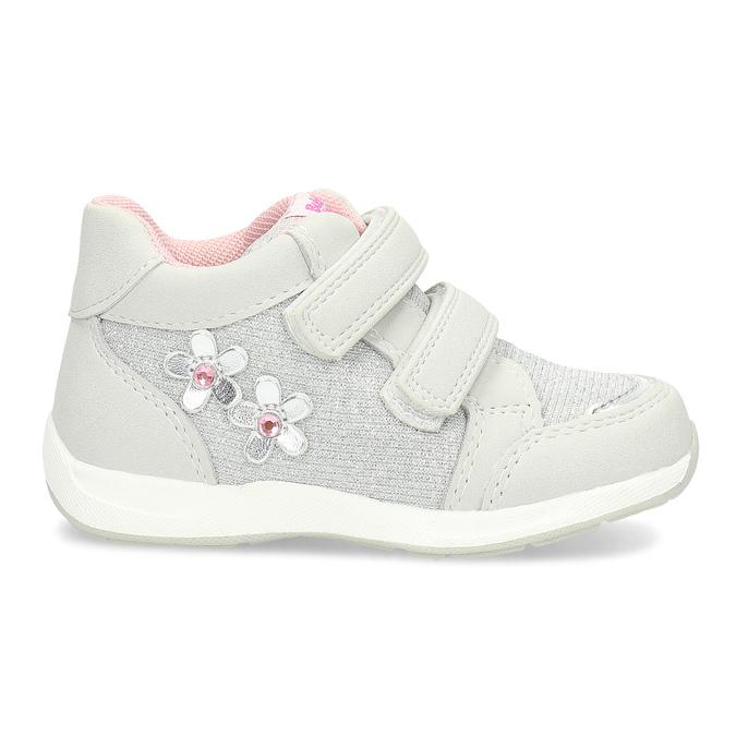 Graue, knöchelhohe Kinder-Sneakers bubblegummer, Grau, 129-2602 - 19