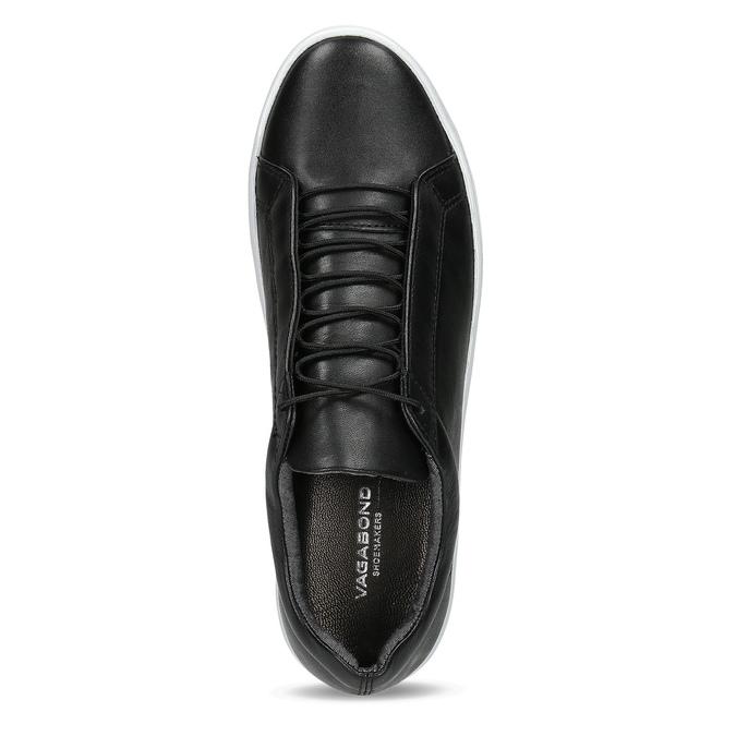Schwarze Leder-Sneakers vagabond, Schwarz, 624-6014 - 17